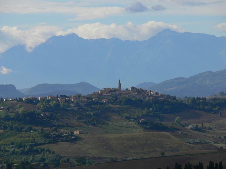 The hilltop village of Castignano