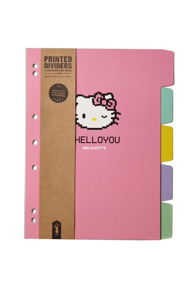 a4 printed dividers, HELLO KITTY PIXELATED
