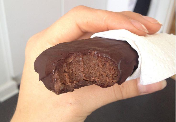Chokolade/banan proteinbar
