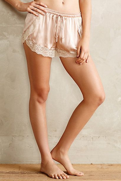 8//30//14 Blushed Silk Tap Shorts - anthropologie.com