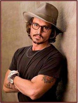 Johnny Depp dapper in a Fedora Hat