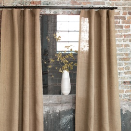 Byron Jute Burlap Curtain Panel