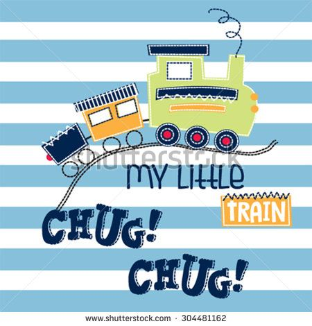 toy train on striped background vector illustration