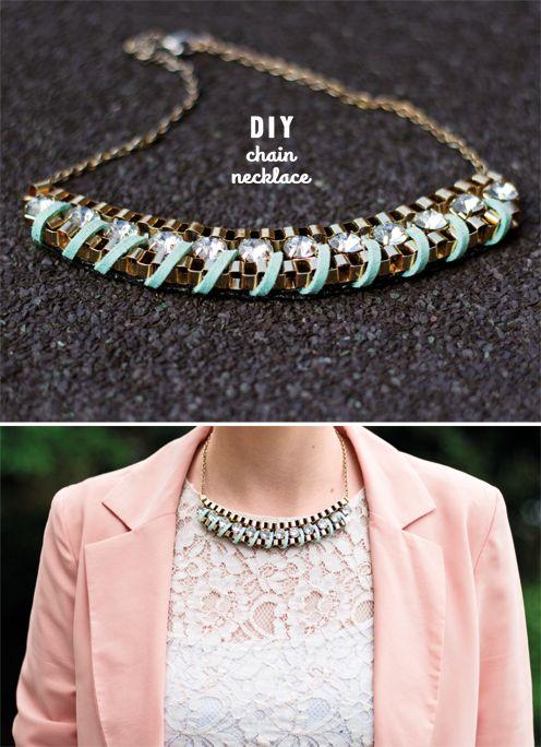 The Lovely Drawer: diy embellished necklaces