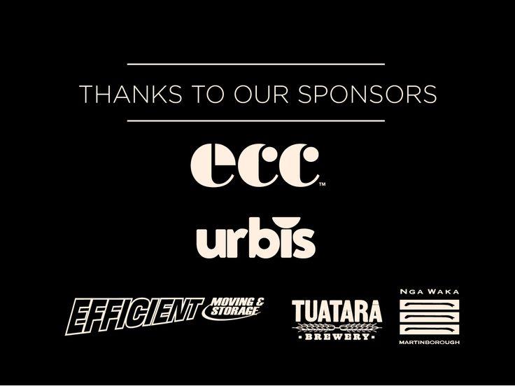 Thanks to our naming sponsor ECC. Our media partner Urbis. Thanks also to Efficient Moving & Storage, plus our beverage suppliers on Awards night Tuatara and Nga Waka.
