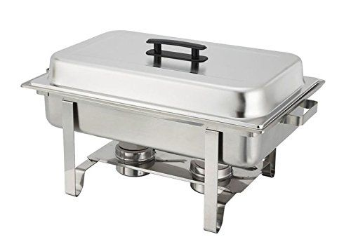 PrestoWare PWR-751, 8-Quart Chafer, Stainless Steel Oblong Chafing Dish for Catering