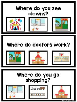 WH Question Flip Cards by Simply Special Ed | Teachers Pay Teachers