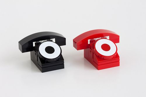 Lego design (Mini Rotary Phones by Powerpig)
