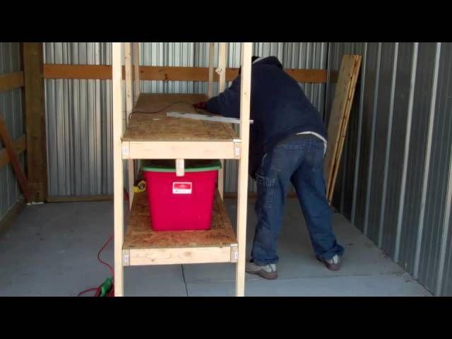 Build Wood Garage Storage Shelves for Under $50