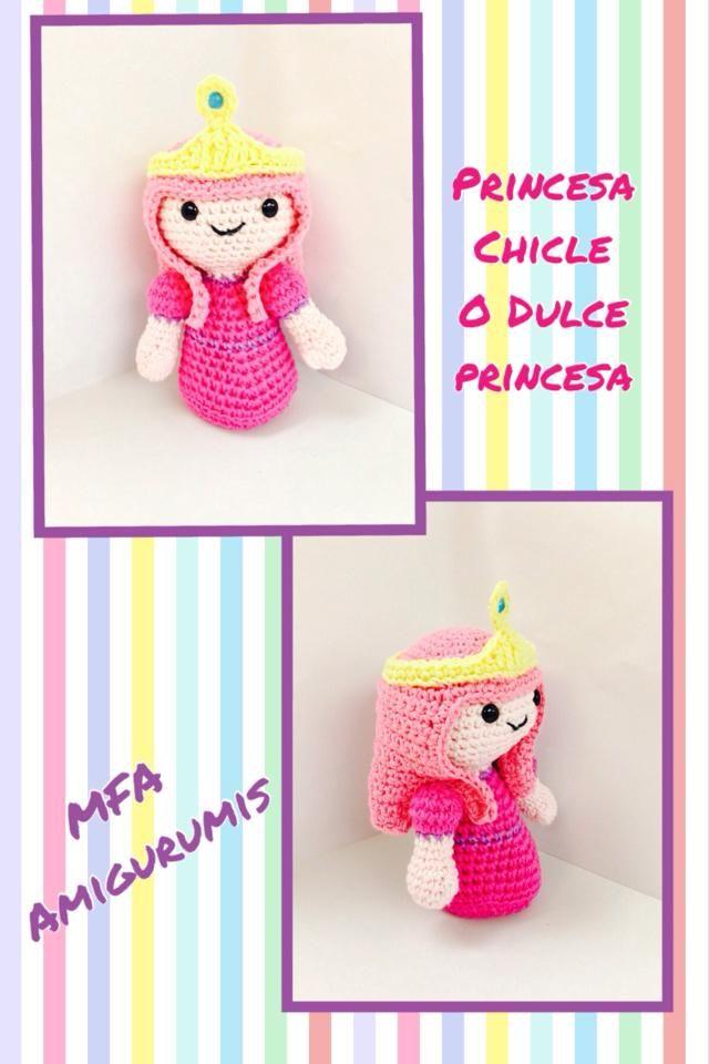 Princesa Chicle- Hora de Aventuras www.facebook.com/MFAAmigurumis