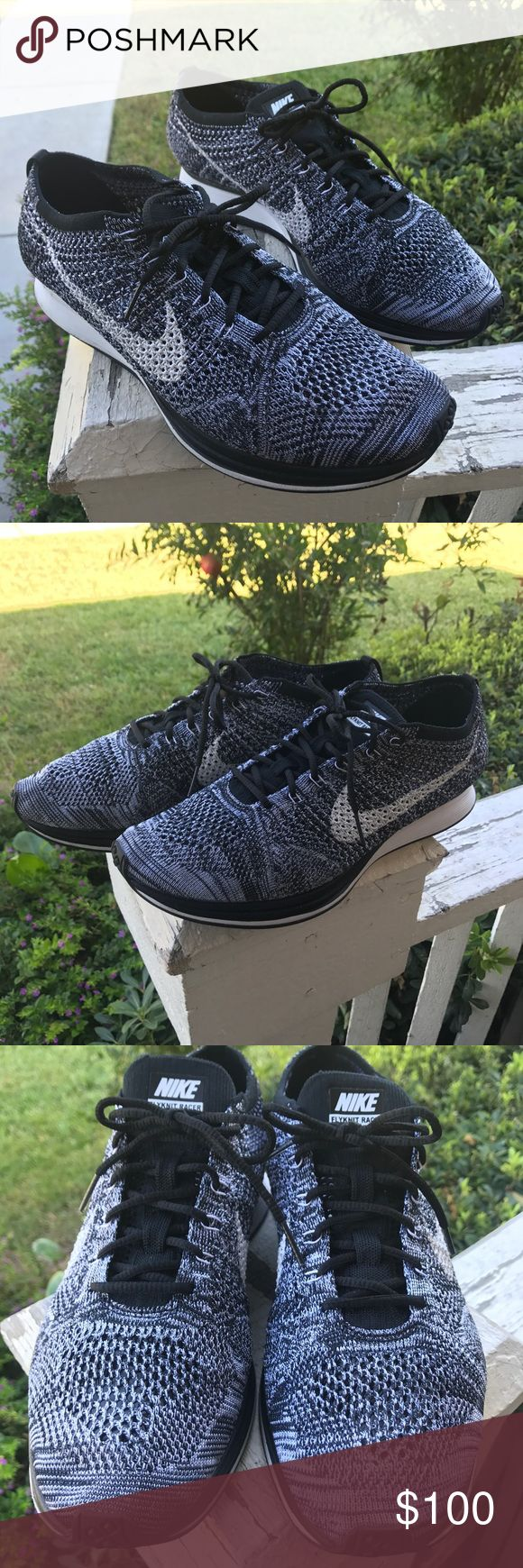 Nike flyknit Oreo flyknit racer nwot Nike  / men's size 11 / from store only tried on / no run or activities used / only to try on / flyknit racer Oreo / hypebeast / boost / Nike Shoes Sneakers