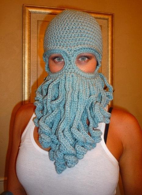 Davy Jones Ski mask by CamoCuttie on Etsy, USD35.00 Knitted/Crochet-Balaclava...