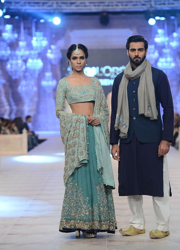 Nida Azwer - PFDC L`Oreal Paris Bridal Week 2014: I like the man's outfit, not his shoes.