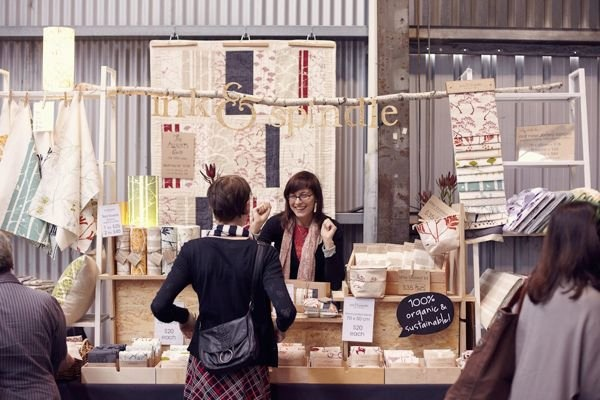 Ink and Spindle booth.....I love that hanging branch