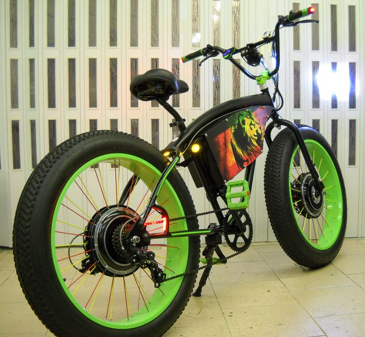BB2-wd Berry's Bize 7500w electric bicycle extreme conversion  -  Fat Bike