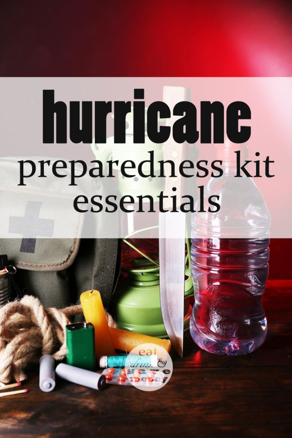 Prepare for a hurricane by making a hurricane preparedness kit. Everyone needs to have an emergency preparedness kit ready to go. Include water, food, candles, flashlights, tools, batteries and a crank radio.