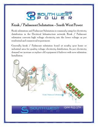 #Kiosk substations and #Padmount #Substations is commonly using for electricity distribution in the Electrical Infrastructure network. Kiosk / Padmount substation converts high voltage electricity into the lower voltage as per residential and commercial requirement.