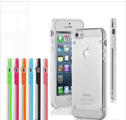 TRANSPARENT ULTRA THIN TPU HARD COVER CASE  FOR iPhone 5 5s GLOW IN THE DARK