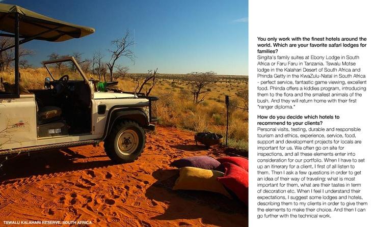 Tswalu Kalahari Reserve from Luxury Culture