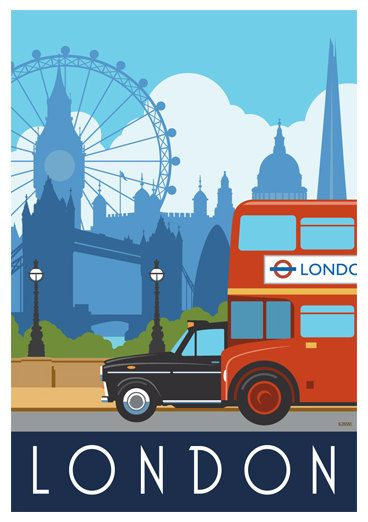 If you want to travel around London you have to go by bus, taxi or underground. We couldnt find a way of fitting the underground into this picture!