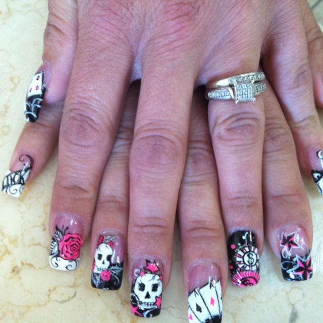 51 best vegas nails images on pinterest vegas nails playing vegas nails prinsesfo Choice Image