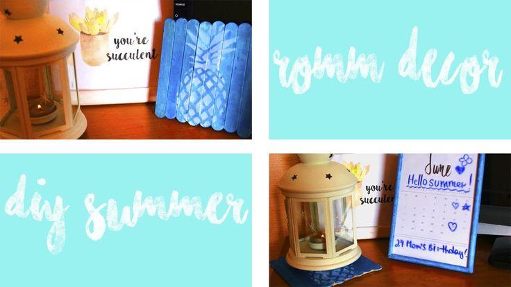 DIY|summer room decor| летний декор ♥♥♥