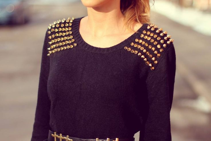shop Olivia Sky for this stud shoulder sweater! Fall 13
