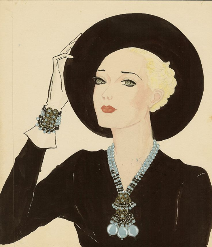 Miriam Haskell Jewelry ad