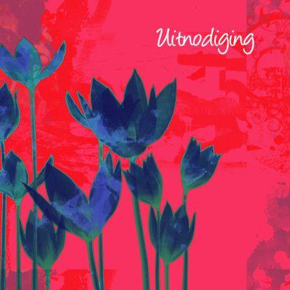 Mooie uitnodiging tulpen - Uitnodigingen - Kaartje2go