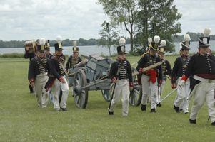 Reenacting the War of 1812. You can even watch the movie ~ click here!