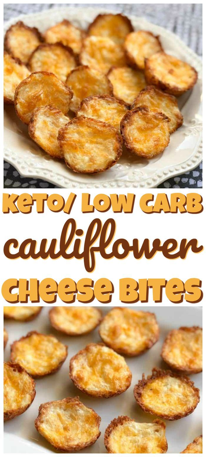 Cauliflower Cheese Bites- These keto/ low carb Cauliflower Cheese Bites are such an easy keto snack.  These low carb cauliflower bites taste amazing.
