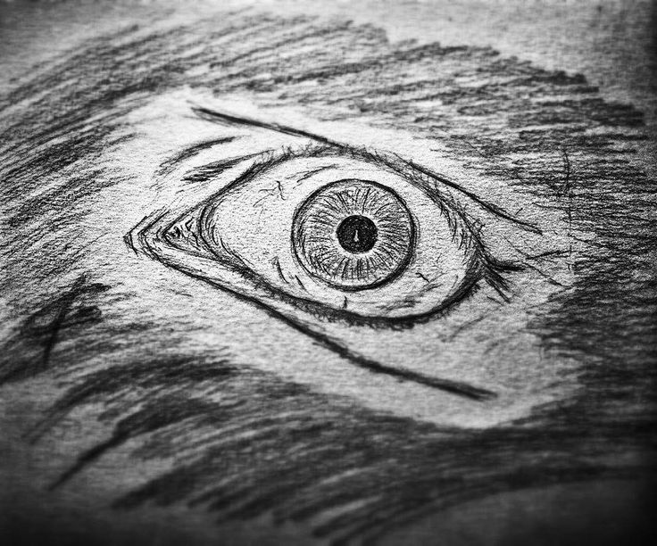 """This is the drawing of the story """"Big black eye"""""""