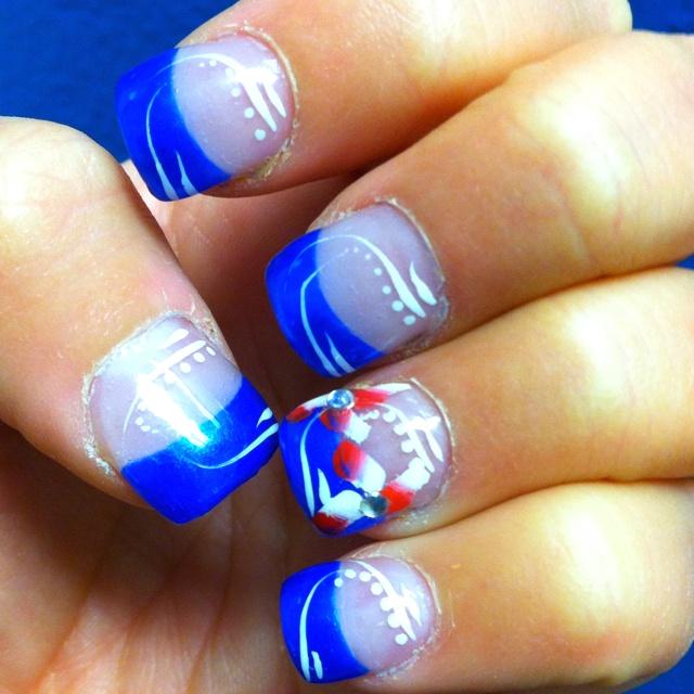 Kansas Jayhawk Nails