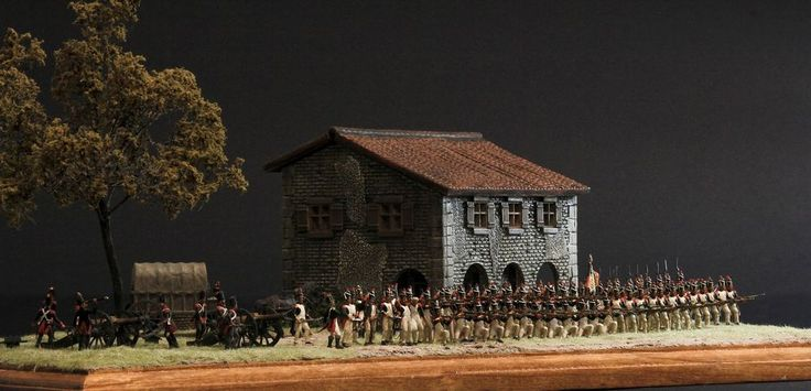 DIORAMA ART PRINT NAPOLEONIC IMPERIAL GUARD GRENADIERS FORMATION  #Realism