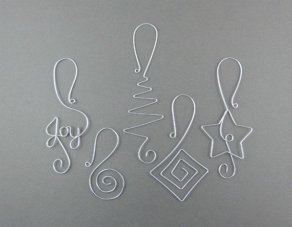 Christmas Tree Ornament Hangers Wire Christmas by WireExpressions