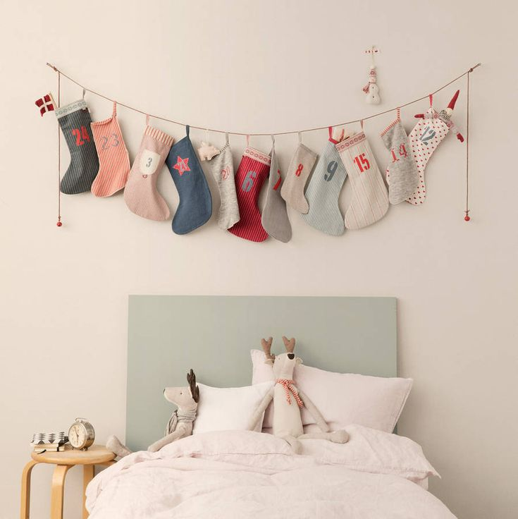 christmas stocking / sock advent calendar by little baby company | notonthehighstreet.com