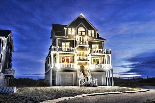602 hampton colony n topsail beach nc 7 bedroom for Luxury vacation rentals hamptons