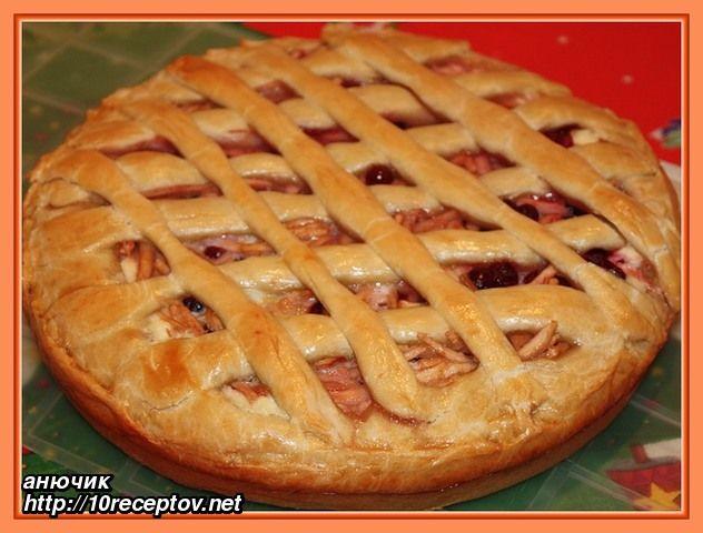Пирог с яблоками на маргарине