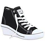 Damen Sneakers Keilabsatz Sneaker-Wedges Sportschuhe