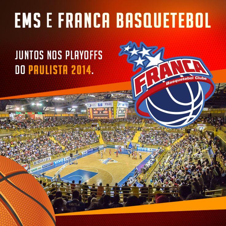 Temos o orgulho de anunciar o patrocínio da EMS à equipe do Franca Basquetebol Clube nos playoffs finais do Campeonato Paulista 2014. O 1º desafio do time nas semifinais do torneio acontece nesta quinta-feira (25), a partir das 20h, contra a equipe do Bauru. Vamos torcer! #EMS