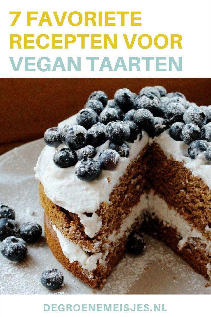 Maak zelf deze vegan taarten omdat taart altijd kan. Mijn 7 favoriete recepten: brownies, feesttaart,  vegan kwarktaart,worteltaart, cheesecake,  bananenpannenkoekentaart, chocolademoussetaart.