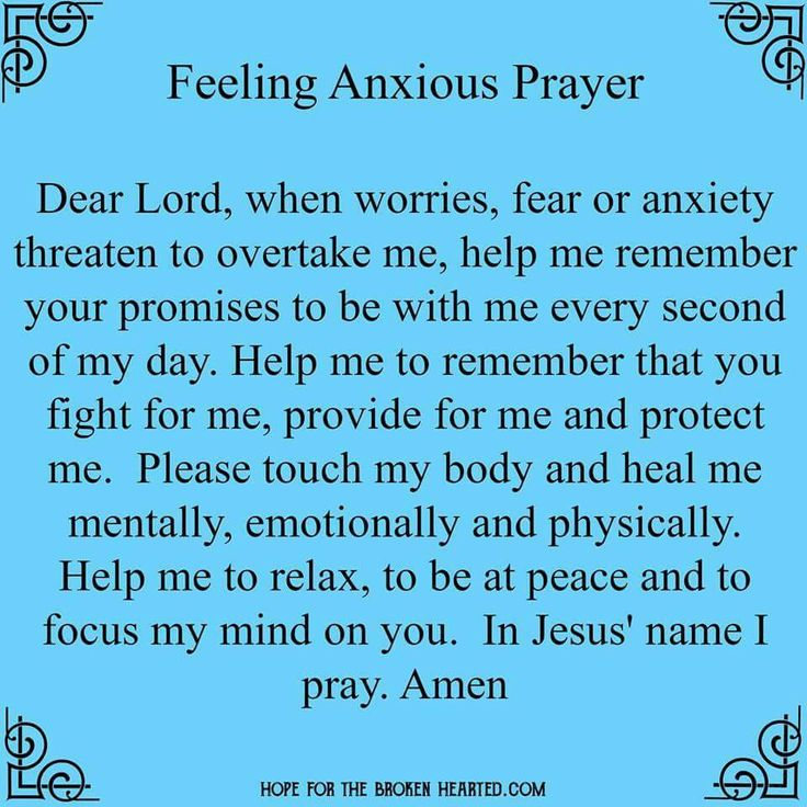 Feeling Anxious Prayer