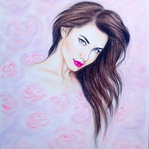 Beautiful Makeup Pretty Girl Drawings: Amazing, Art, Beautiful, Beauty, Colorful, Colors, Colour