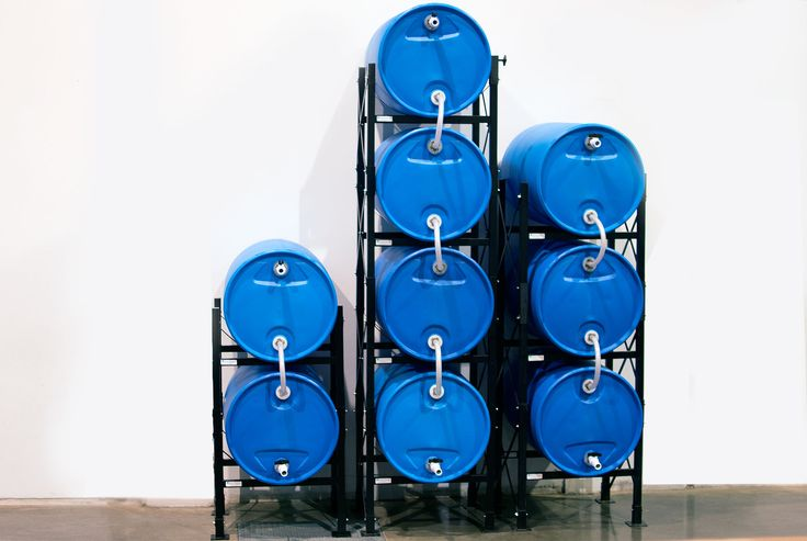 Multiple rack of the Titan Ready USA Water Storage System