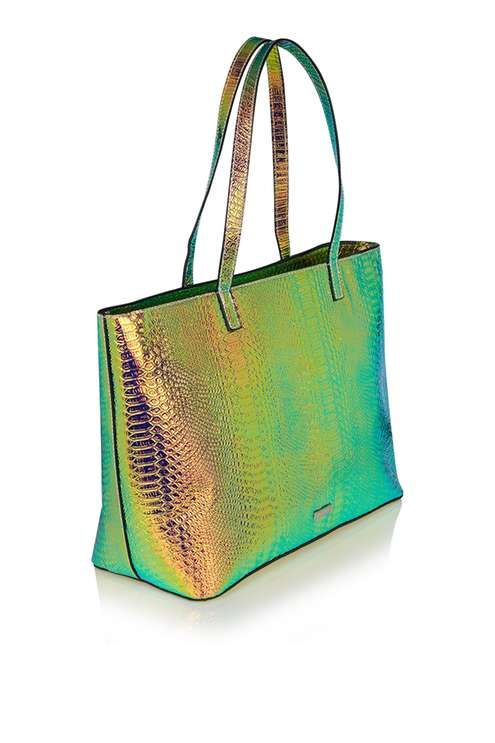 Fit all your essentials in this roomy large tote bag by Skinny Dip, featuring cool iridescent texture. A simple and practical accessory to liven up your outfit. #Topshop
