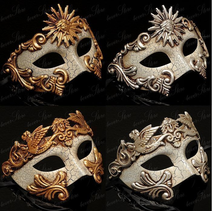 Half Mask Masquerade Event Men Venetian Masquerade Mask Vintage Design