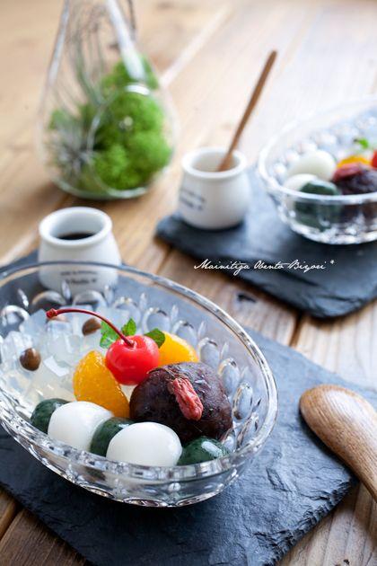 Anmitsu, Japanese Dessert Bowl 白玉あんみつ