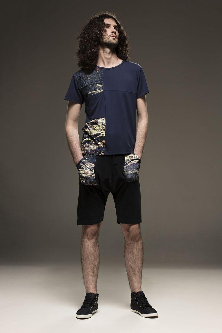 Ewa Bednarska- t-shirt i szorty z kolekcji CAMOUFLAGE Spring/Summer 2015