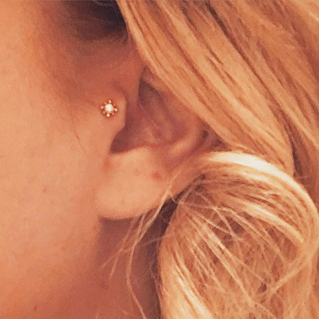 Reining Queen of Impulse #tragus #bvla #goldengirl @blueboutiquebodypiercing