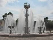 Fountain in Birobidzhan, a town and the administrative center of the Jewish Autonomous Oblast. Its location on the Trans-Siberian Railway had early Jewish settlers by 1928 and was made an official autonomous region in 1931.
